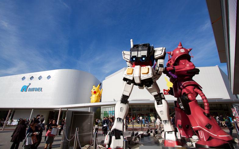 【画像7】関西初のガンダム専門店「GUNDAM SQUARE」も出店。来春にはGUNDAMの向こうに大観覧車が登場する!(写真撮影:井村幸治)