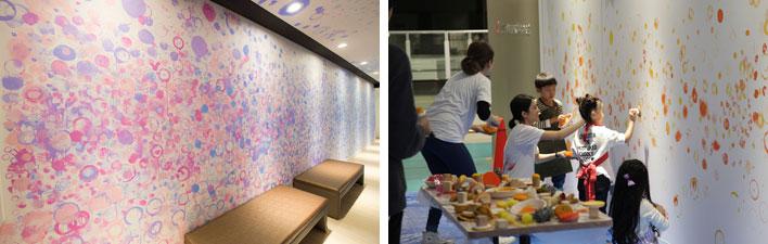 【画像11】美大とのコラボによって施された壁面アート。地元の子どもたちも制作に参加しました(画像提供:三井不動産)