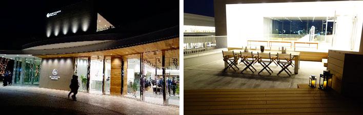 【画像13】イベント広場に面した「BEAUTY&YOUTH UNITED ARROWS」は、買い物の合間にくつろげるテラス席を店舗の上階に設けています(撮影:金井直子)