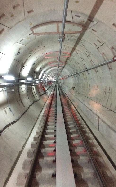 【画像2】地下鉄内トンネル。平成18年度に工事に着手、東日本大震災で建設が遅れたがついに完成。復興のシンボルのひとつになるだろう(画像提供:仙台市交通局)