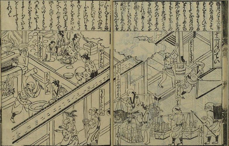 【画像1】十二月のてい 出典:「天和長久四季あそび」(画像提供/国立国会図書館ウェブサイト)