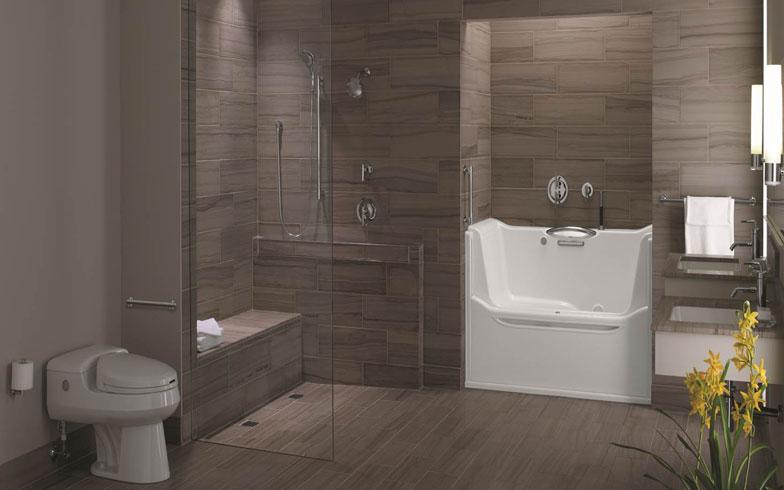 【画像4】米国シニア・デザインのトイレ・バス空間リフォーム事例(写真提供:Neil Kelly社)