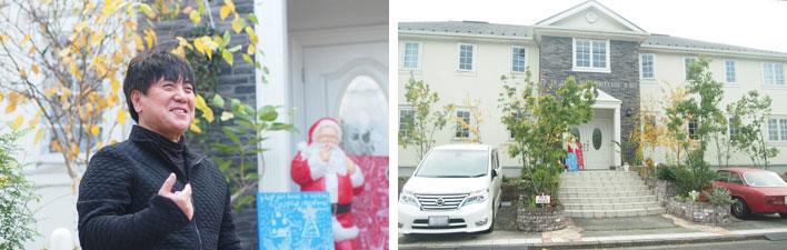 【画像1】定期借家契約を積極的に導入し、満室を続けている林さん(左)。大家業の第1号となった物件(右)(撮影:SUUMOジャーナル編集部)