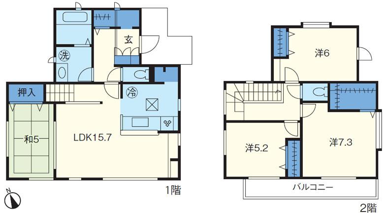 Nさんファミリー(夫42歳、妻33歳、長女2歳)。2015年8月入居 建物面積約98㎡、4LDK+ウォークインクローゼット、土間収納、パントリー