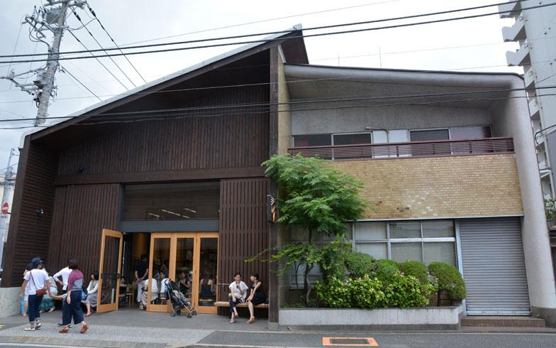 【画像1】住宅街の中にある木材倉庫を再利用した「オールプレス・エスプレッソ 東京ロースタリー&カフェ」。清澄白河で人気のカフェは、地下鉄駅から少し離れた閑静なエリアに点在している(写真撮影:次にくる住みたい街はここだっ! 取材班)