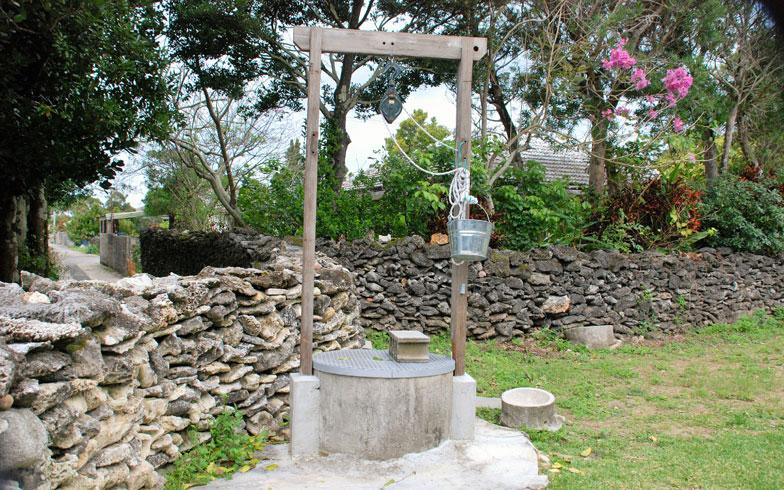 【画像8】島は湧き水が豊富で井戸がある家が多い。バケツを使っての汲み上げは大変だが、今も使えるという(写真撮影:伊藤加奈子)