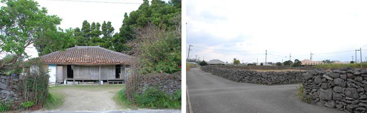 【画像3】瓦の重みで屋根がたるみはじめている。あと何年持つのか。家が取り壊され石垣だけが残っている場所も多かった(写真撮影:伊藤加奈子)