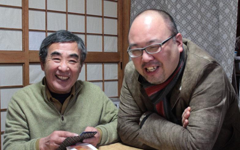 【画像6】物件探しも含めた移住者のサポートをするおふたり。岩丸さんは「神山のスーモ」(左)、大西さんは「上勝のスーモ」(右)と、冗談交じりに話してくださいました(写真撮影:SUUMOジャーナル編集部)