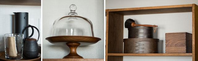 【画像7】普段づかいの茶器や食器たち。美しいデザインだから飾りたくなります。毎日のように使っているので、見せる収納でもほこりのたまる暇がありません(写真:片山貴博)