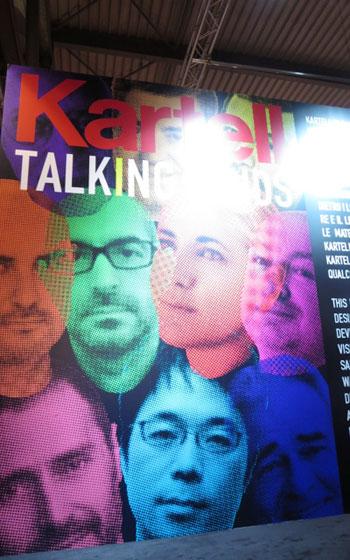 【画像6】リッソーニ、ウルキオラなど有名デザイナーと共にKartellの顔となる吉岡徳仁氏(写真撮影/藤井繁子)