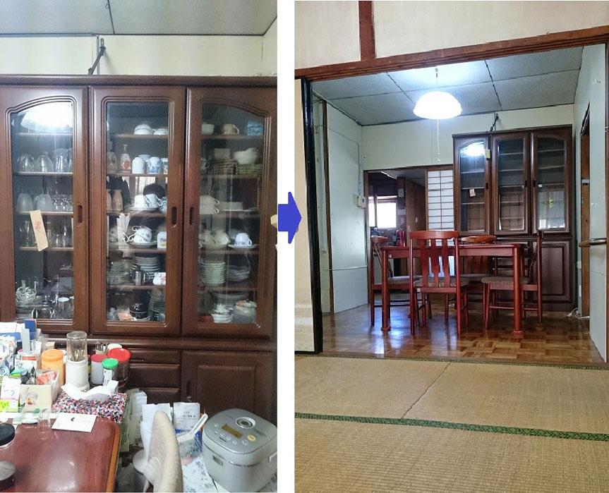 【画像4】ダイニングルームも大型家具のみを残せばすっきり(画像提供:Kさん)