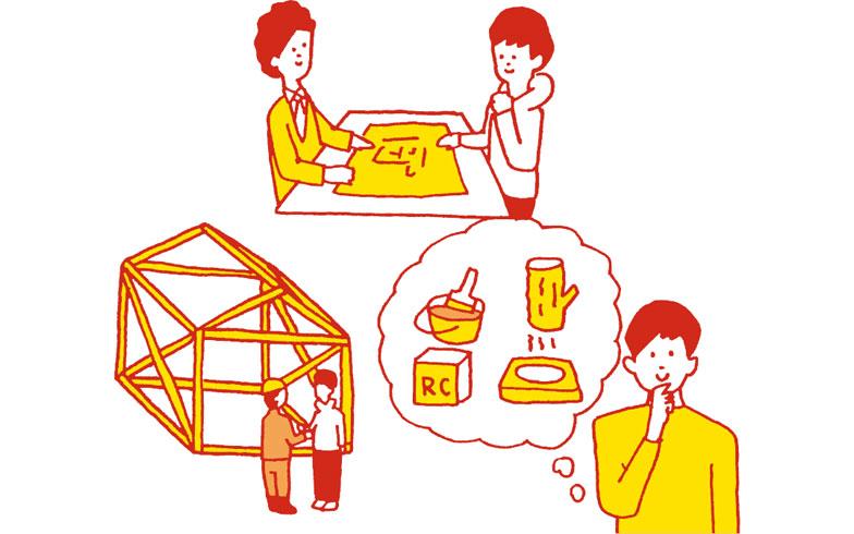 【画像1】品質をコントロールできる3つのポイント。(1)親身になって話を聞いてもらいやすい (2)構造や素材などを自分で選べる (3)信頼できる住宅メーカーに依頼できる(イラスト:加納徳博)