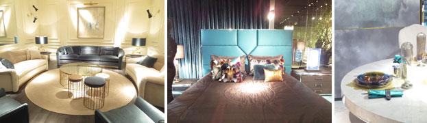 【画像2】今年の色Blue&Greenを家具の他、テーブルウエアなどでアクセントに使っている(写真撮影/藤井繁子)