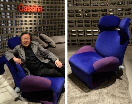 【画像7】喜多氏はこの「Wink」を約35年前にデザイン、「20万台以上は生産された」という。傑作の一つとして展示されている。これもブルーバージョンで(写真提供/ミーレ・ジャパン)