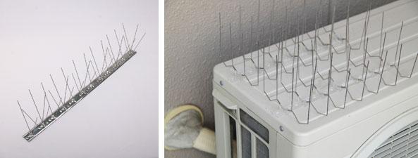【画像4】「ピーコンスパイクVST」と「ピーコンスパイクW(50cm)」は鳩がとまりにくい形状(画像提供:日本鳩対策センター)