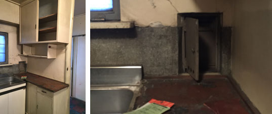 【画像4】つくり付け食器棚の下には郵便受けもある(写真撮影:SUUMOジャーナル編集部)