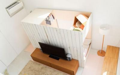 リビングに置ける「家の中の小屋」が、便利でかっこいい!
