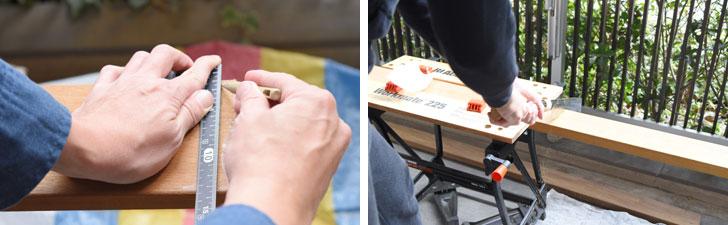 【画像2】工具箱にかろうじて見つけたノコギリで、地道に切っていく(写真撮影/SUUMOジャーナル編集部)