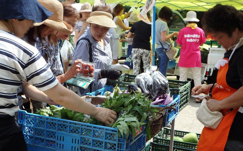 【画像1】地元農家と地元住民たちで大盛況の「高津さんの市」(写真提供/川崎市高津区)