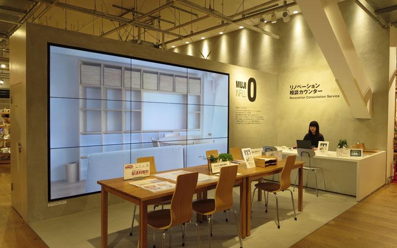 【画像1】東京・有楽町駅前の無印良品旗艦店3階にある、「MUJI INFILL 0」のリノベーション相談カウンター(写真撮影/藤井繁子)