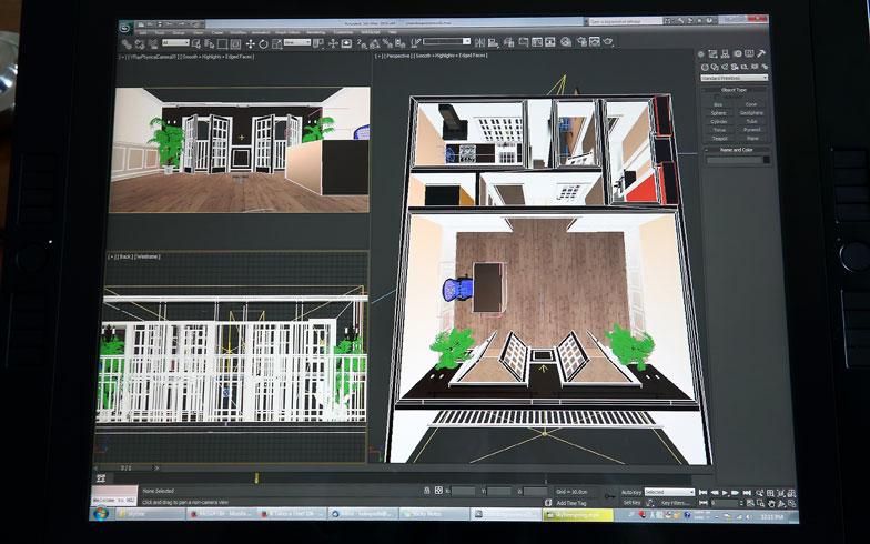 【画像4】フリークリエイターとして、CGアニメーションを手掛けているKさん。部屋のカスタマイズ用にパースもしっかりつくり込んだそう。さすがはプロのクオリティ(写真撮影/飯田照明)