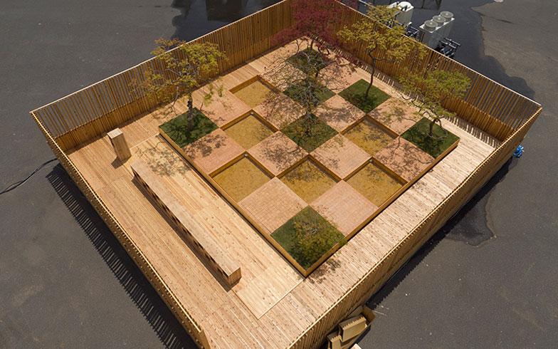 【画像9】市松模様の一升が約1.5mという距離感、人が語らいやすいコミュニティ・モジュールだ(写真提供/HOUSE VISION)