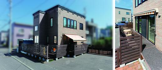 【画像16】家の外周も少しスペースを取れば、ドッグランになるという提案。一部を砂利敷きに(写真提供/ワンオンワン)