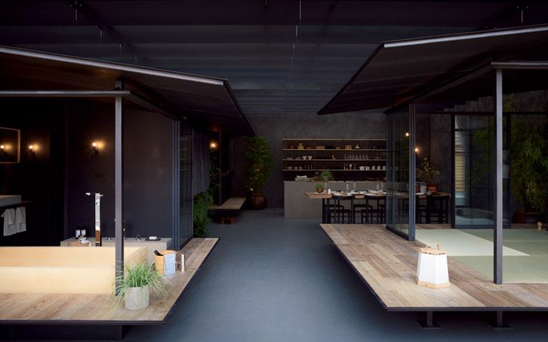 【画像11】建築家・谷尻氏と吉田氏らしい緩勾配屋根の小屋が3棟、室内空間に配された。マンション内でこんなのができればオシャレ!(写真提供/HOUSE VISION)