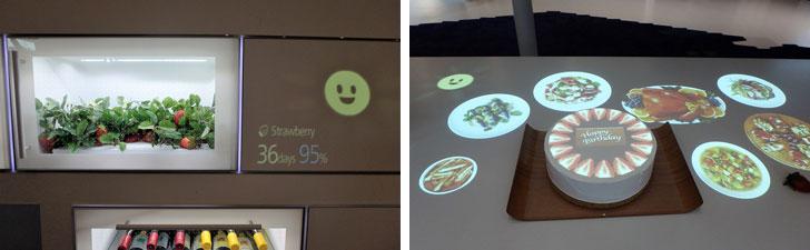 【画像4】(左)家庭菜園のいちごの食べごろもお知らせ、(右)誕生日やホームパーティーなど特別な日も余裕をもって準備できる(写真撮影/ヨシダミホ)
