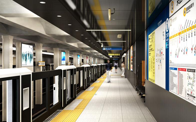 【画像2】末広町駅のデザインコンセプトは「電気の街」。秋葉原の北の玄関口として外国人や観光客に対して「electric gate」でお出迎え(2017 年完成予定)(画像提供/東京地下鉄株式会社)