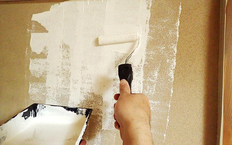 【画像3】ホームセンターで砂壁に直接塗れる塗料という便利なものを教えていただきました(写真撮影/玉置豊)
