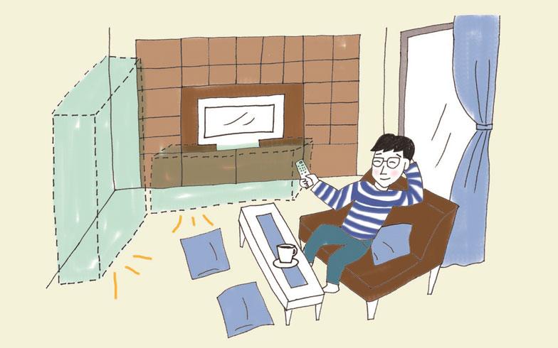 【画像2】家具を買わなくて済んだ(イラスト/そで山かほ子)