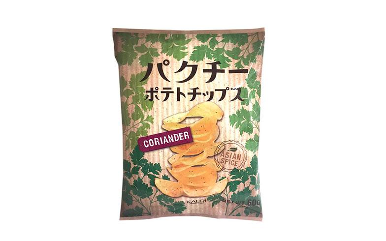 【画像6】ベトナム産のパクチーリーフの香りをプラスした、エスニックな味わいを堪能できるお菓子 ※取り扱いのない店舗あり (画像提供/カルディコーヒーファーム)