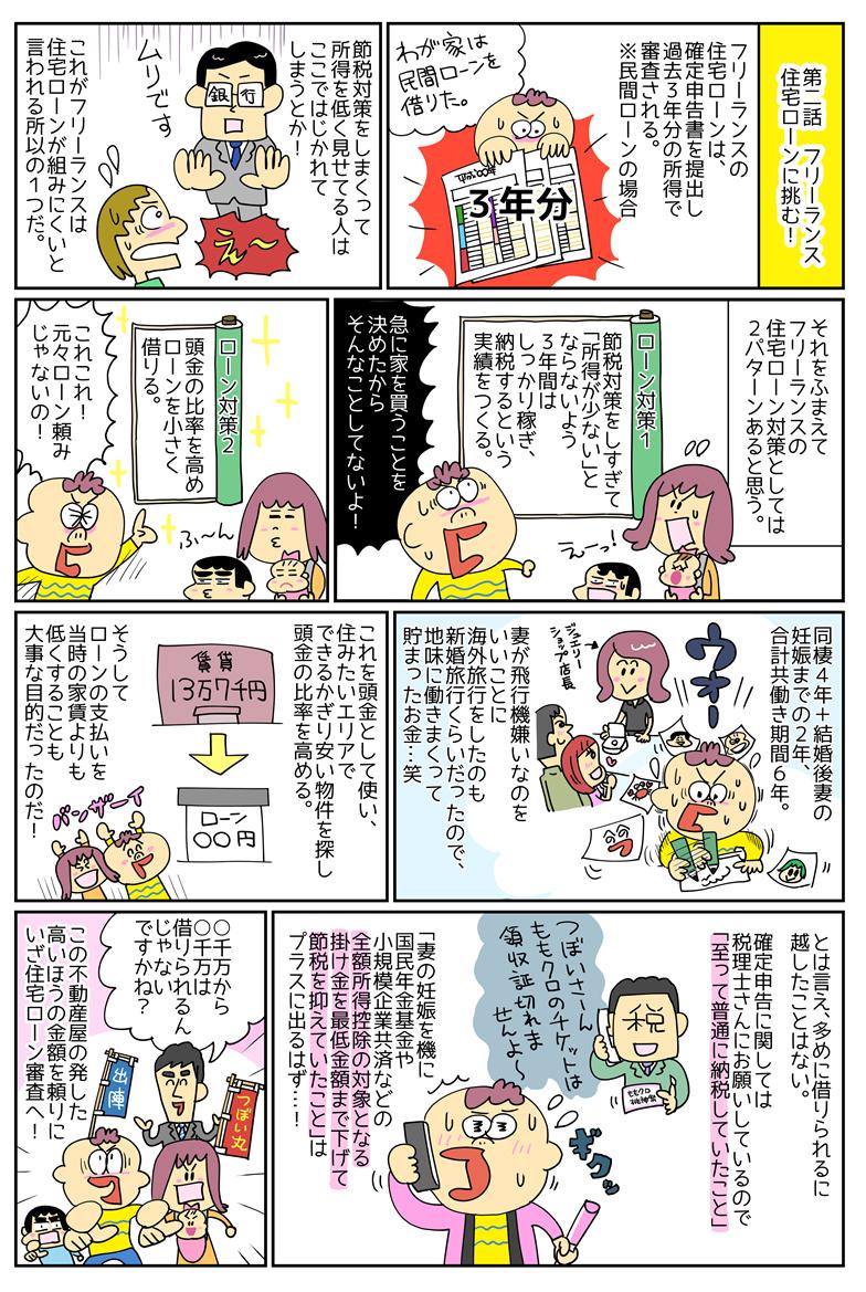 漫画・フリーランス家を買う[2] 住宅ローンに挑む!