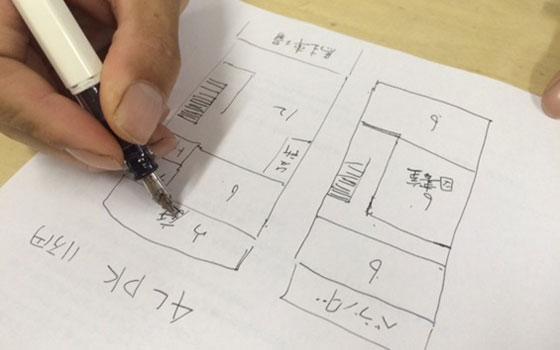 【画像3】京都時代に住んでいたシェアハウスの間取り(写真撮影/SUUMOジャーナル編集部)