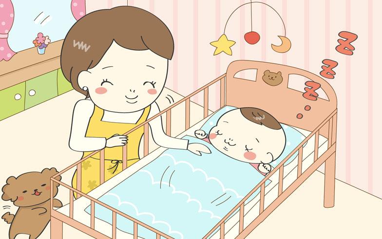 ベッド に 置く 起きる 赤ちゃん