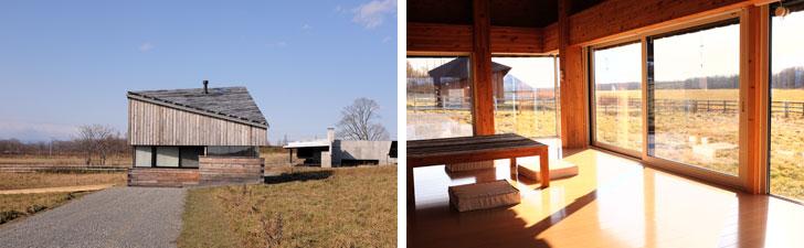【画像6】HORIZON HOUSE。1階の窓は低めの位置にあり、横長の窓から見える景色は、絵画を見ているかのようだった(写真撮影/來嶋路子)