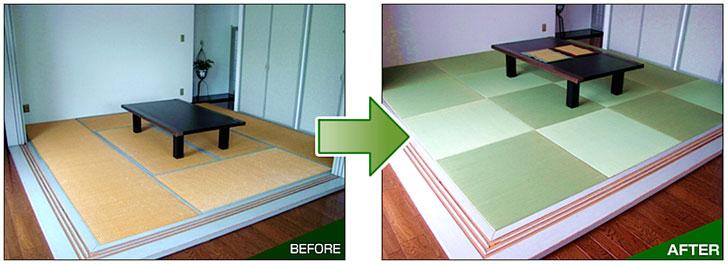 【画像6】縁なし畳にするだけで、部屋がモダンな印象に(画像提供/あなみず)