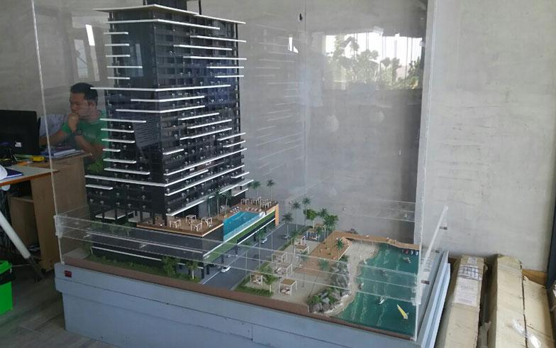 【画像1】現在建築中のコンドミニアムの模型(写真撮影/四宮朱美)