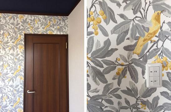 【画像5】寝室の壁紙(天井と壁面を張り替え)(写真撮影/松村徹)