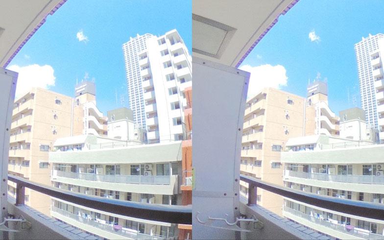 【画像3】部屋からの眺め。雨や曇の日でも、晴れの日の眺望を確認できる(画像提供/リズム)