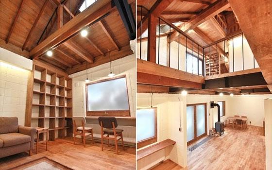 【画像4】小屋裏をあらわしにした、ダイナミックな吹抜け空間が快適そう(画像提供/株式会社スロウル)