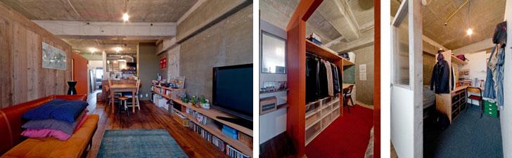【画像11】特別賞「コンパクトプランニング賞」受賞の「家族4人のシェアハウス」。家族4人が暮らす58m2のマンション。限られた空間に4つの寝室を設けたコンパクトプランです(画像提供/株式会社シンプルハウス)