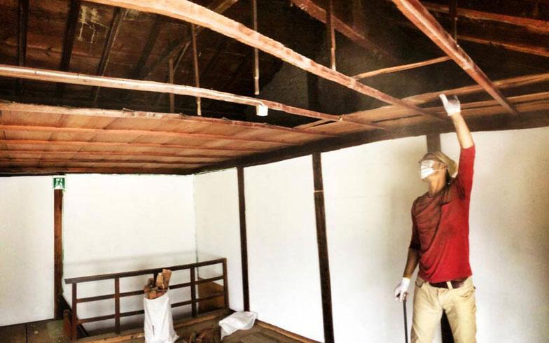 【画像6】改装中の「のどけや別館」の2階(写真提供/ハンモサーフィン協会)