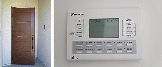 【画像13】日本メーカーの建材・設備も採用。YKK-APの玄関ドア・DAIKINの空調(写真撮影/藤井繁子)