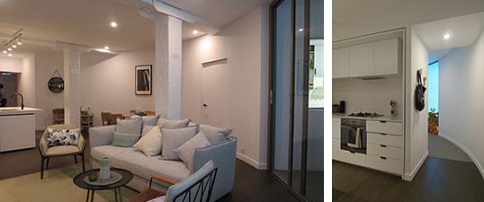 【画像21】サイロ住戸のモデルルーム。部屋が曲線状……家具は置きにくいけど面白い空間(写真撮影/藤井繁子)