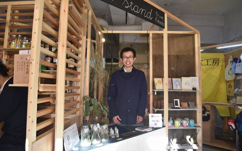 【画像9】取材時は福岡から「清川リトル商店街」の仕掛け人である下野弘樹さんも3日間限定で出店していた(写真撮影/榎並紀行)
