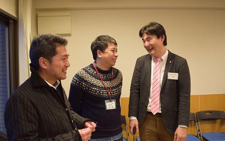 【画像6】「交流会の実施によって、頑張っている理事たちの助けになれたら」と東邦レオの吉田さん(一番右)(写真撮影/末吉陽子)