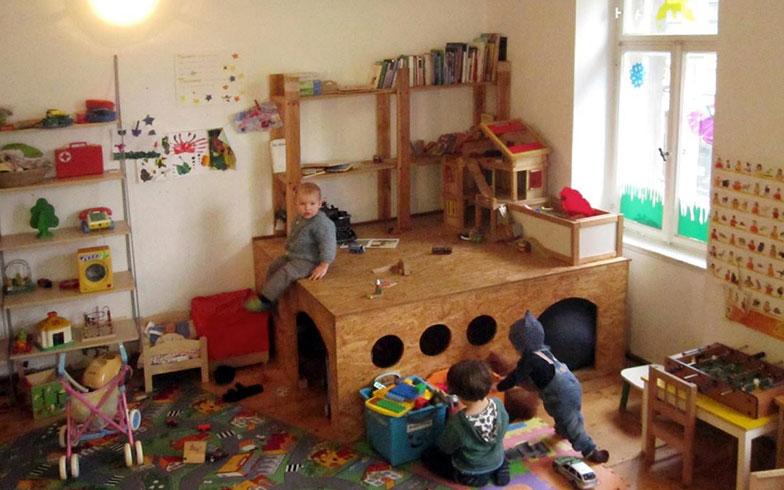 【画像1】「子連れオフィス」の子どもたちのためのスペース(写真提供/吉岡春菜)
