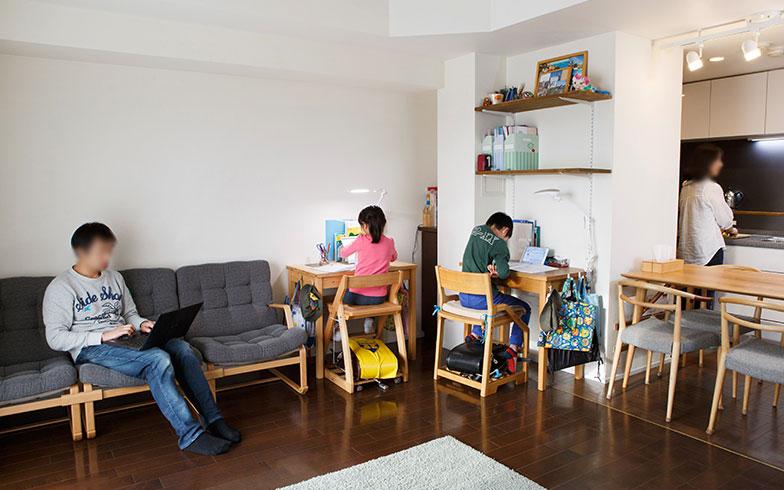 リビ充家族2 61平米に家族4人2ldkから1ldkへのリノベーションで